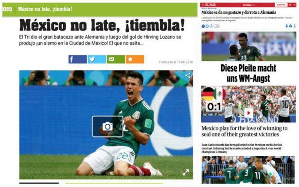 Así reportaron los diarios del mundo el histórico triunfo del Tri