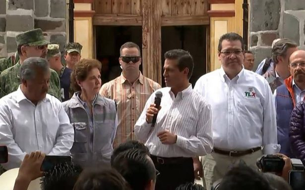 Peña Nieto pide optimizar recursos entregados en Estados afectados por sismo