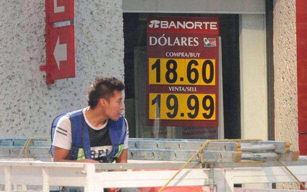 Peso retrocede ante dólar que se vende hasta en $19.71