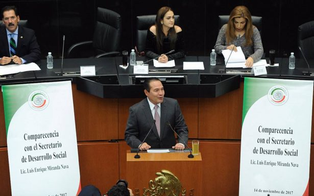 Titular de Sedesol recibe críticas en el Senado tras altos índices de pobreza