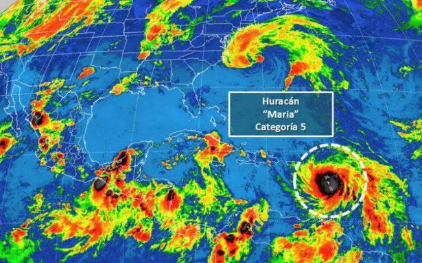 Huracán María recupera categoría 5 y se enfila a Puerto Rico