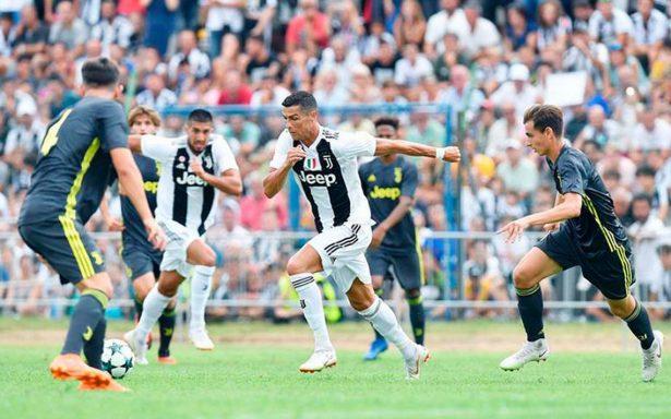 Cristiano Ronaldo se estrena con la Juventus en el tradicional partido de Villar Perosa