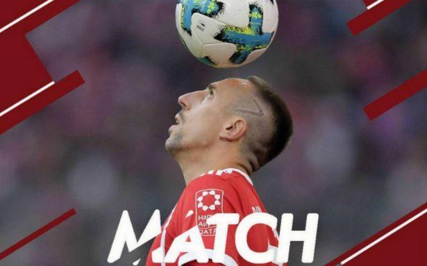 Por lesión en la rodilla izquierda, Ribery es baja del Bayern