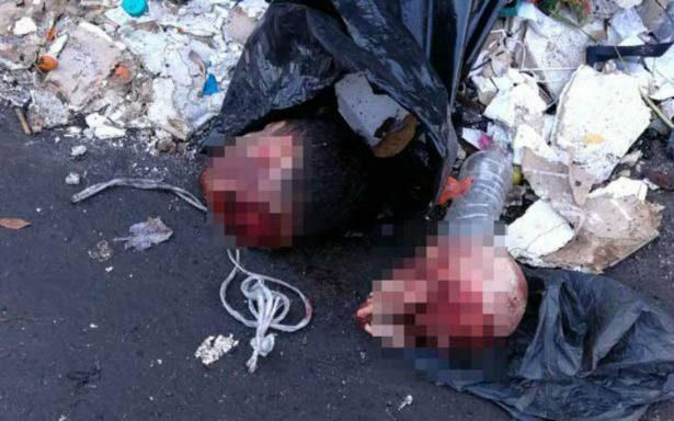 Arrojan dos cabezas humanas a la basura en la colonia Morelos