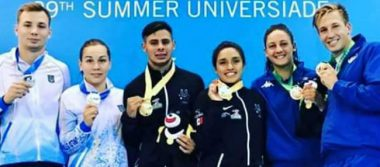 México logra tres medallas más en la Universiada Mundial de Taipei