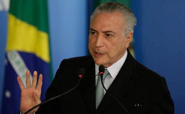 Fiscalía de Brasil denuncia al presidente Michel Temer por corrupción pasiva