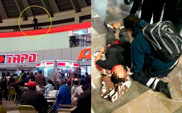 [Video] Joven suicida pone en jaque a policías en la TAPO