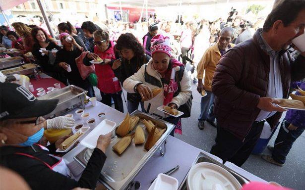 Celebran Día de la Candelaria con Festival del Tamal en el Zócalo