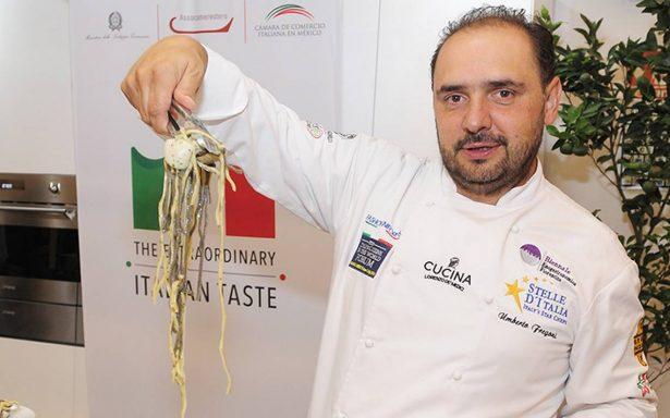 El chef Umberto Fregoni pretende dar a conocer en México, la amplia gastronomía que posee Italia
