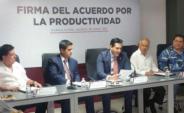 Centrales obreras de Jalisco firman convenio para elevar productividad