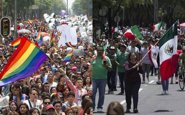 Fiesta en la CDMX: marcha del orgullo y aficionados de la Selección coincidirán
