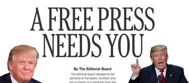 No somos el enemigo: 200 diarios de EU defienden la libertad de prensa en era Trump