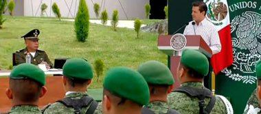 Disciplina en las finanzas permite incrementar apoyos a militares: Peña Nieto