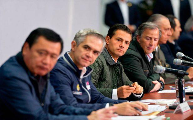 A construir lo que el sismo se llevó: Enrique Peña Nieto