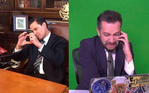 [Video] Peña Nieto se ríe de sus errores en sketch con Chumel Torres