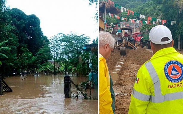 Ramón cobra las primeras víctimas: reportan dos muertos y daños por lluvia en Oaxaca
