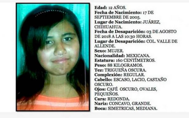 Sigue desaparición de niños en Cd. Juárez; buscan a Idaly Portillo, de 12 años