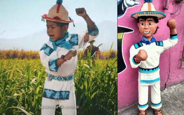 Convierten a Yuawi, el niño de 'movimiento naranja' ¡en una piñata!