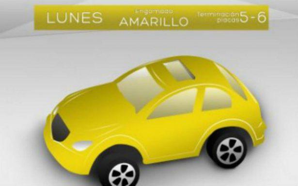 Vehículos con engomado amarillo y placas 5 y 6 no circulan este lunes