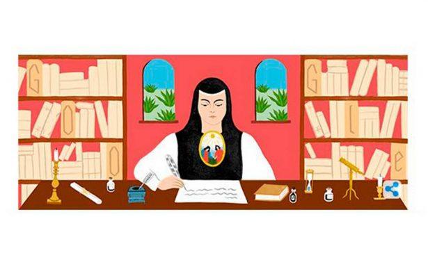 Con doodle, celebran natalicio de Sor Juana Inés de la Cruz