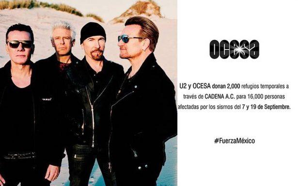 Conciertos de U2 no solo deleitarán a fans, también ayudarán a víctimas del sismo