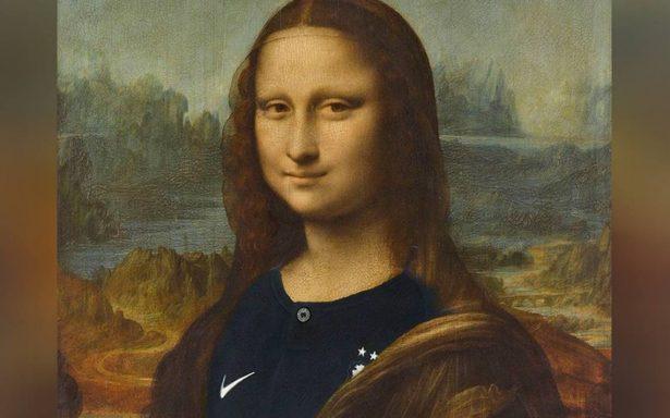 """La Mona Lisa """"se une"""" a la celebración con su playera de Francia y genera polémica en redes"""