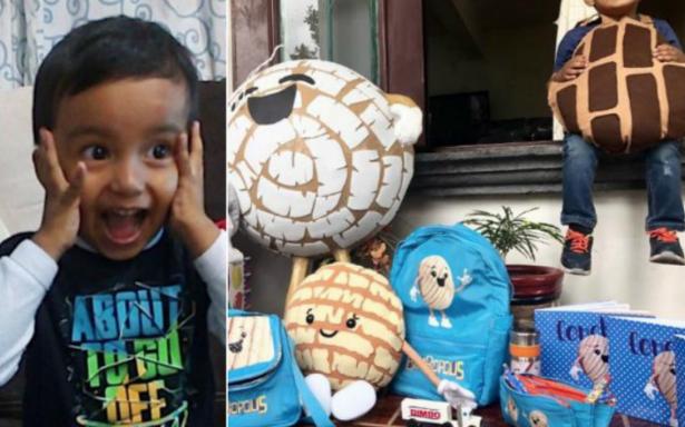 Bimbo hace feliz a Richi, el niño que hizo una fiesta de conchas