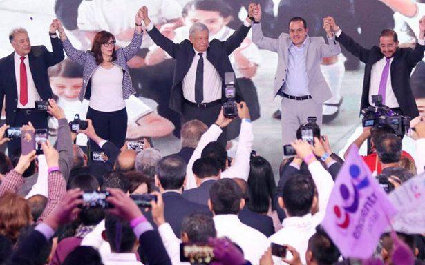 AMLO llama al amor, fe y reconciliación como candidato presidencial del PES