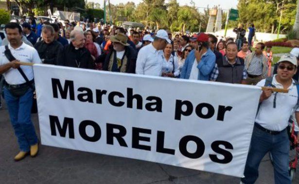 Integrantes de Marcha por Morelos llegan a Secretaría de Gobernación