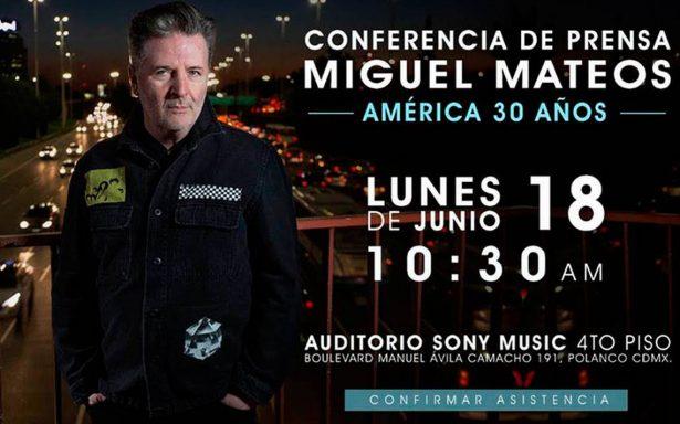 Orgulloso del rock, Miguel Mateos anuncia su regreso a México
