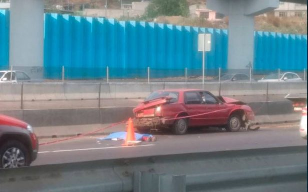Mueren dos en accidente en la México-Puebla