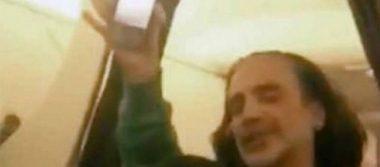 Por borracho y asustar a los pasajeros, bajan a Alejandro Fernández de un avión