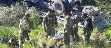 Vuelca camión de la Marina en Tamaulipas; descartan heridos