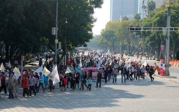 Manifestantes afectan circulación en Insurgentes y Reforma