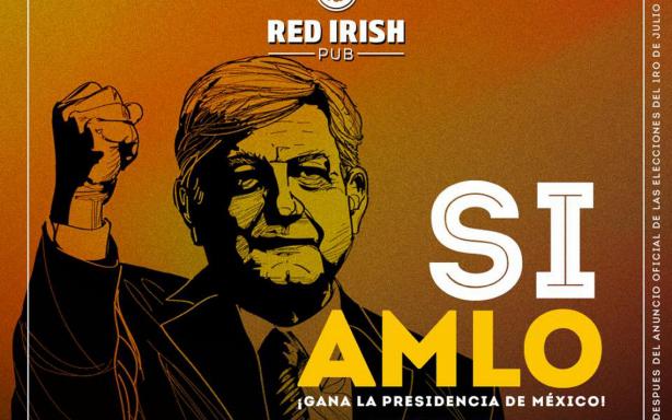 Bar regalará barriles de cerveza si AMLO gana la presidencia