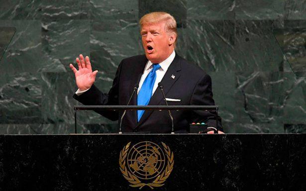 Acabaremos con Corea del Norte si no cede: Trump en la ONU
