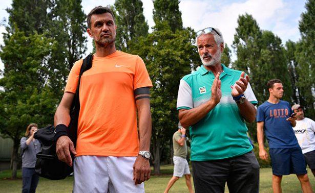 ¿Debut y despedida? Maldini cae en su primer duelo como tenista