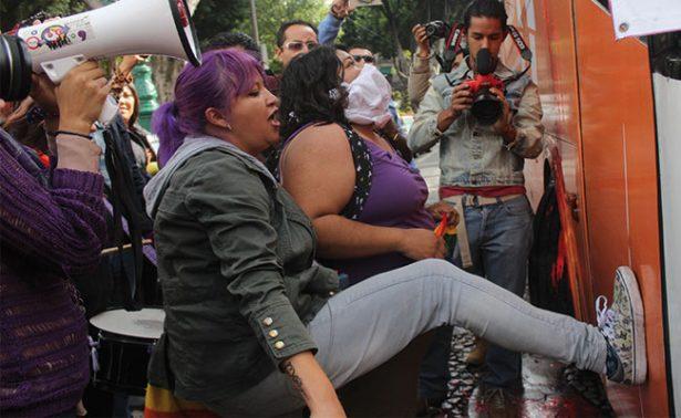 Atacan Autobús por la Libertad en Puebla