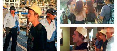 Justin Bieber sorprende al pasearse por Los Cabos