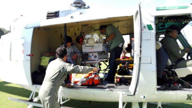 Grupo Aéreo realiza trasladó de un bebé prematuro con complicaciones médicas