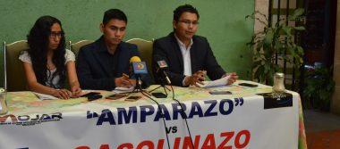 """Anuncian jóvenes """"amparazo"""" contra el """"gasolinazo"""""""