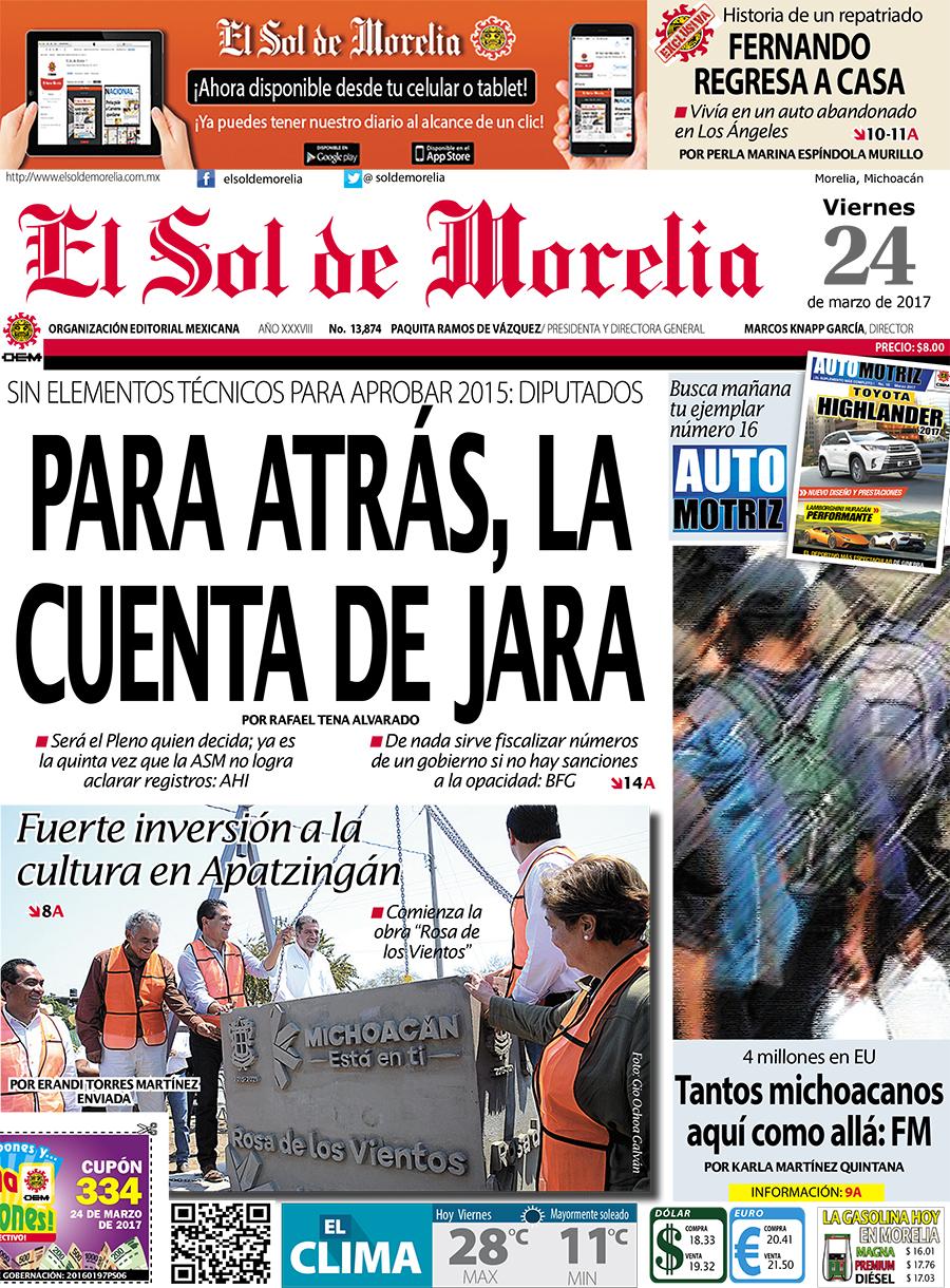 portada morelia 24 marzo