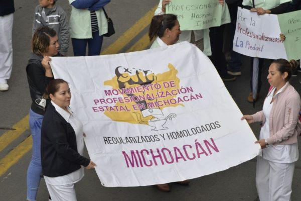 Enfermeras piden profesionalización laboral