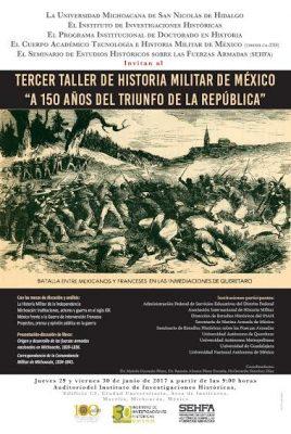 En la Casa de Hidalgo, 3er Taller de Historia Militar en México