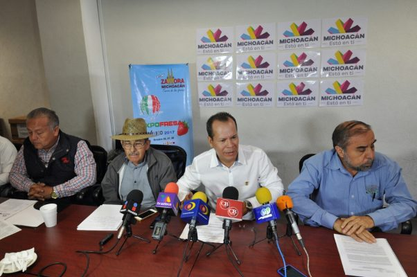 Anuncian Expo Fresa 2017 para dar impulso al sector
