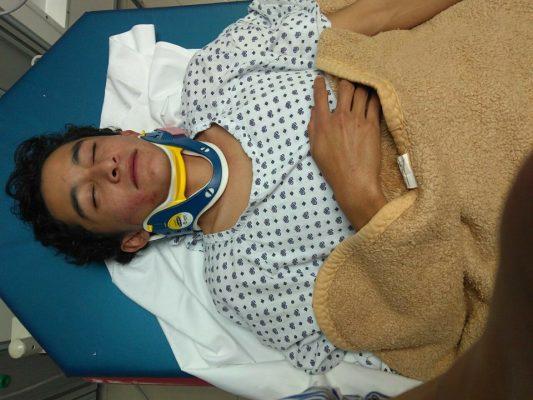 Carlos Mauricio Medina, hospitalizado por fractura