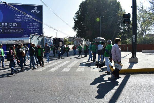 Inicia la movilización de los manifestantes  en Morelia
