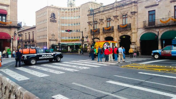 Activa SSP operativo de vigilancia ante movilizaciones en Morelia