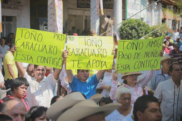 Tierra Caliente muestra apoyo a García Conejo