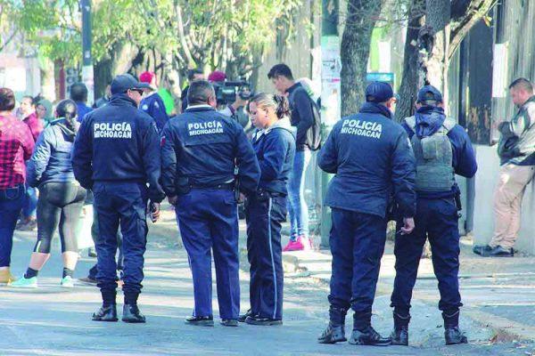 Cambios laborales en la policía Michoacán